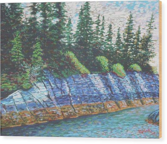 Eastbay Cut Nova Scotia Wood Print