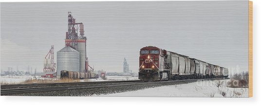 Eastbound Empties Wood Print
