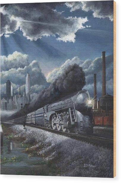 Eastbound Twentieth Century Limited Wood Print by David Mittner