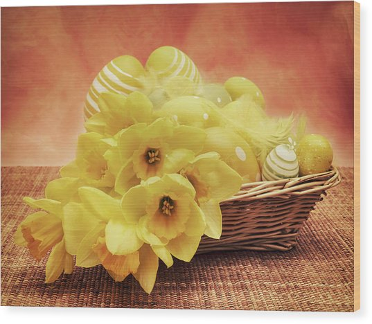 Easter Basket Wood Print