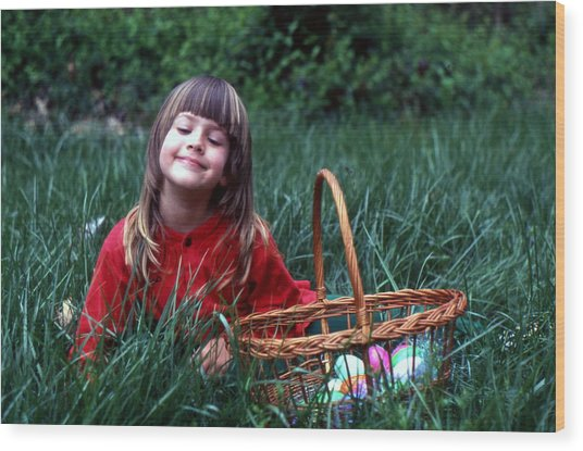 Easter Egg Hunt Wood Print