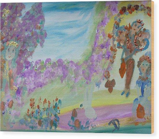 Easter Fairies Wood Print
