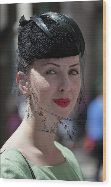 Easter Parade 2011 Hat And Veil Wood Print