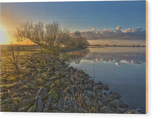 Easter Sunrise Wood Print
