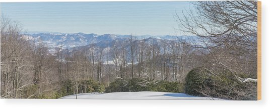 Easterly Winter View Wood Print