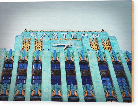 Eastern Building Wood Print by Ariane Moshayedi