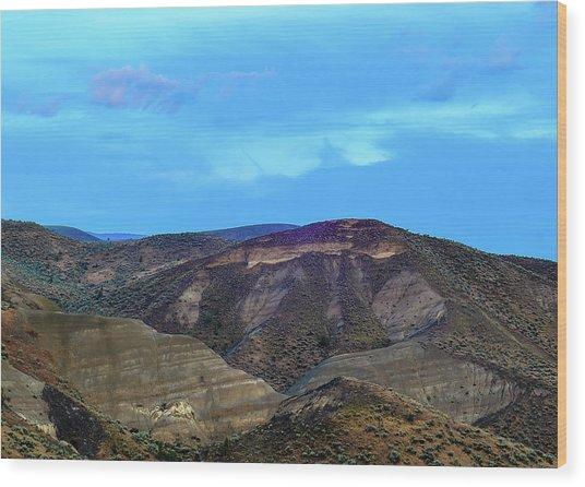 Eastern Hills Wood Print