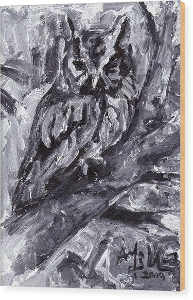 Eastern Screech-owl Wood Print