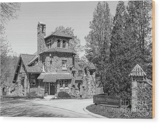 Eastern University Andrews Hall Wood Print by University Icons