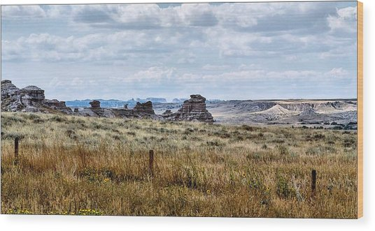 Eastern Wyoming Sky Wood Print