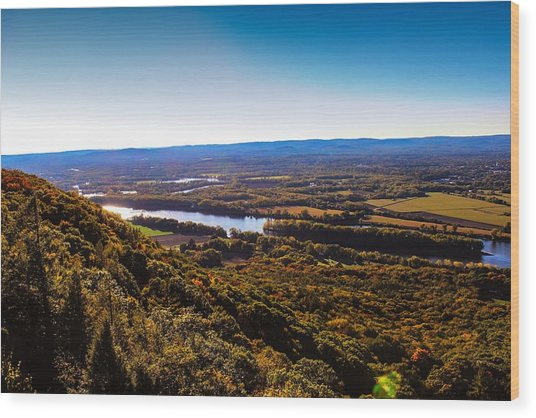 Easthampton View From Summit House Wood Print