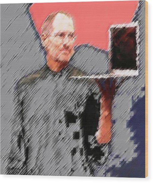 Eaten Apple Of Steve Jobs Wood Print
