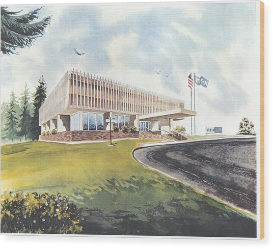 Eaton Corp Administration Building Wood Print