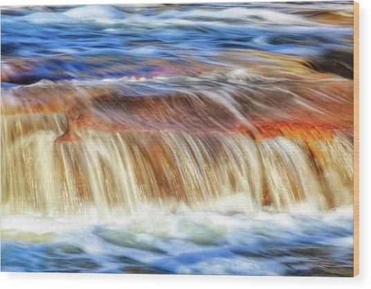 Ebb And Flow, Noble Falls Wood Print