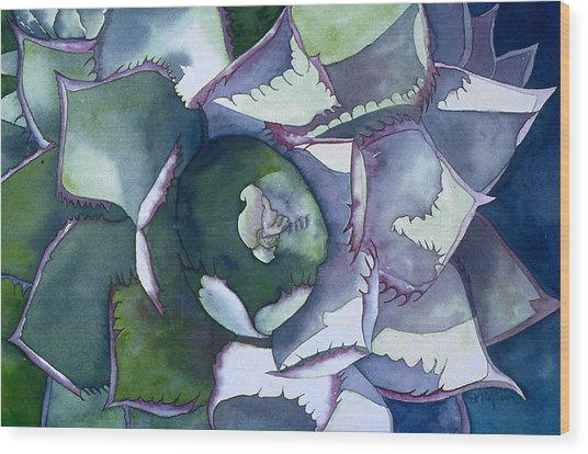Echeveria Wood Print by Eunice Olson