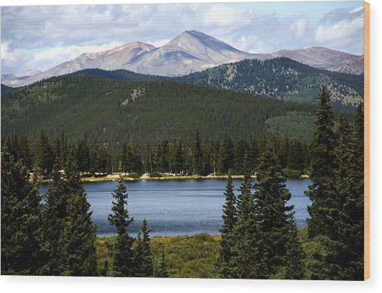 Echo Lake Colorado Wood Print