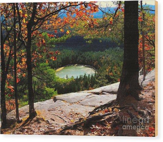 Echo Lake, New Hampshire Wood Print