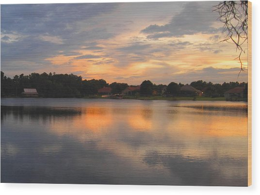 Echo Lake Sunset Wood Print by Penfield Hondros