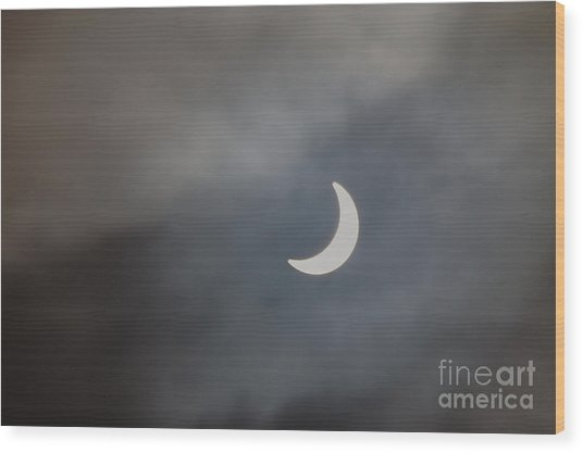 Wood Print featuring the photograph Eclipse 2015 - 2 by Jeremy Hayden