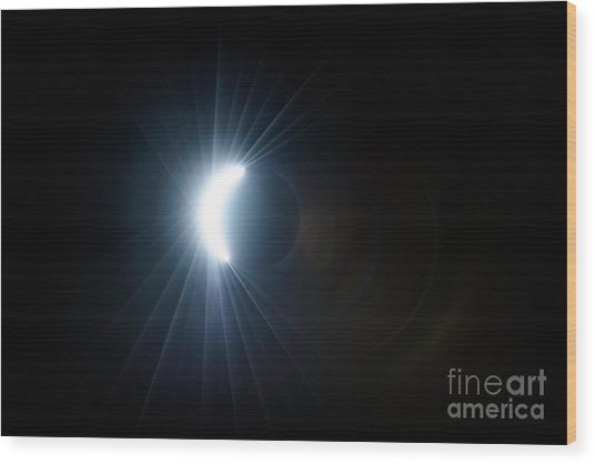 Eclipse Before Totality Wood Print