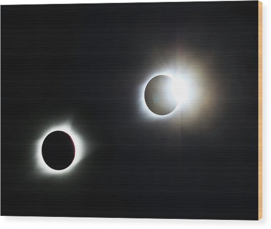 Totality Awesome Wood Print