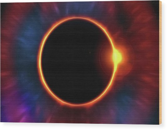 Eclipse Wood Print