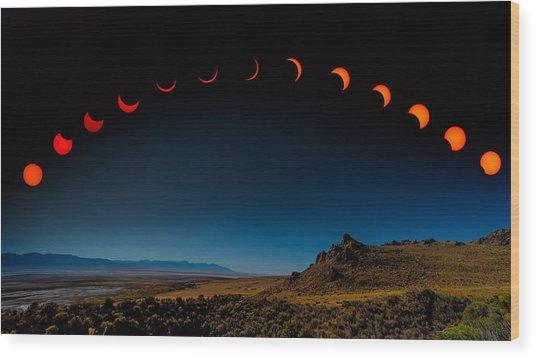 Eclipse Pano Wood Print