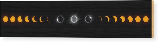 Eclipse Progression Wood Print