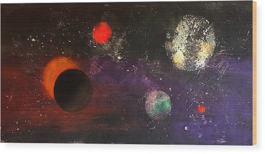 Eclipse Wood Print by William Renzulli