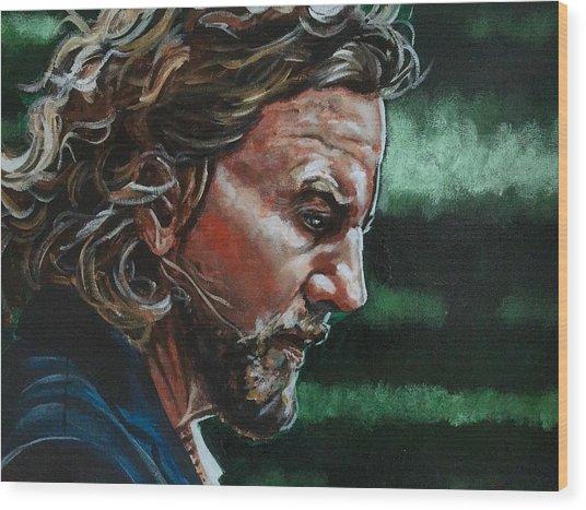 Eddie Vedder Wood Print