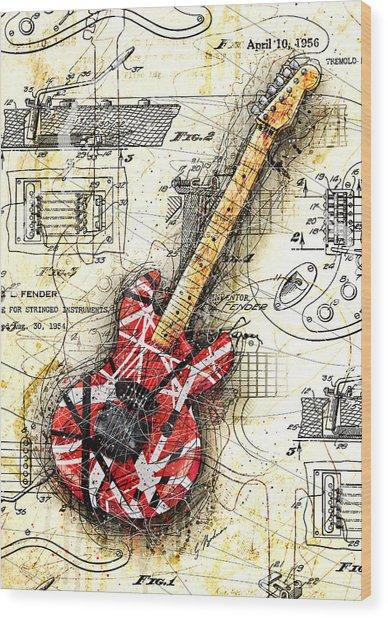 Eddie's Guitar II Wood Print