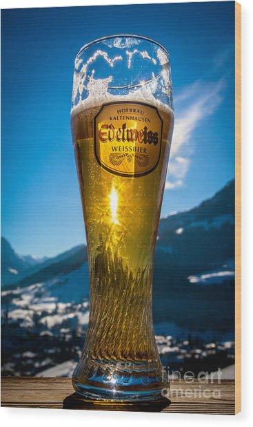 Edelweiss Beer In Kirchberg Austria Wood Print