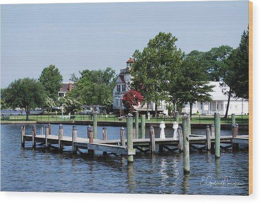 Edenton Waterfront Wood Print