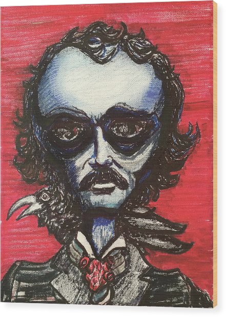 Edgar Alien Poe Wood Print