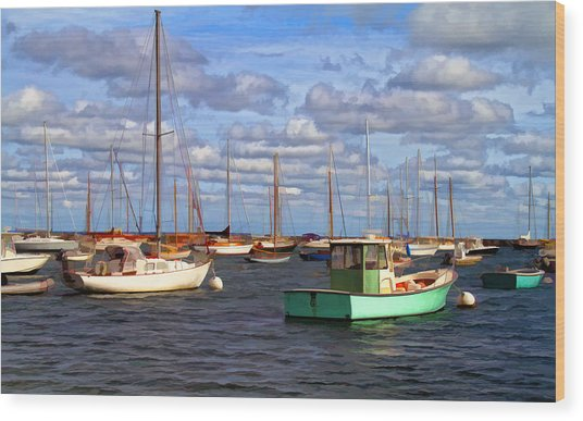 Edgartown Harbor Wood Print