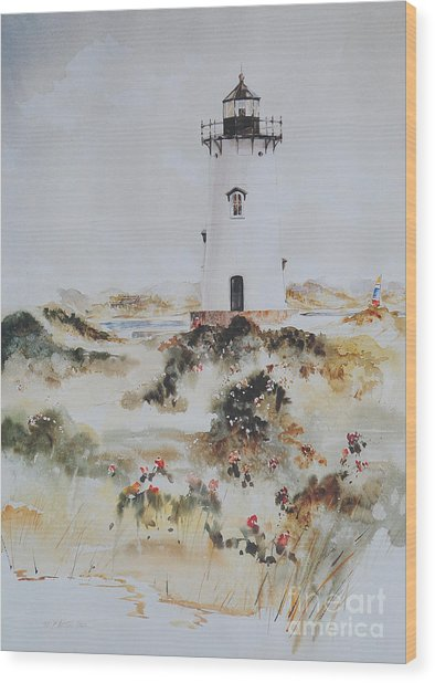 Edgartown Light Marthas Vineyard Wood Print