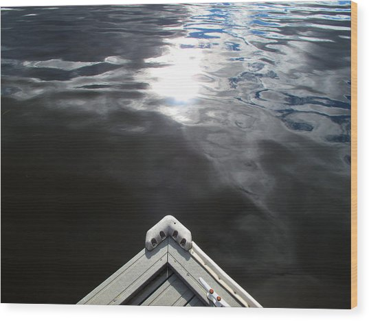 Edge Of The Dock 2 Wood Print by Lyle Crump