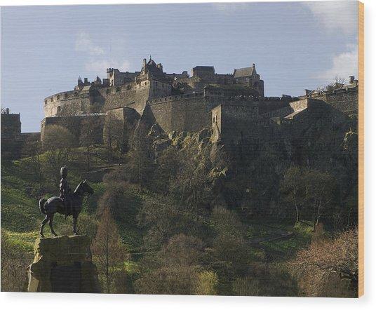 Edinburgh Castle Wood Print by Mike Lester