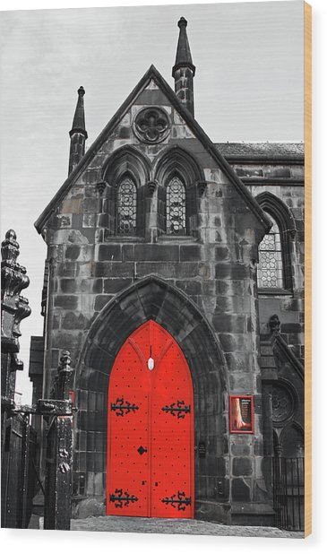 Edinburgh Door Wood Print