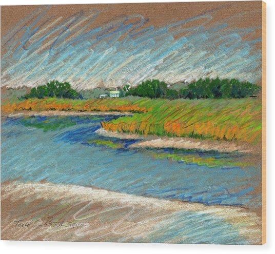 Edisto Beach Wood Print