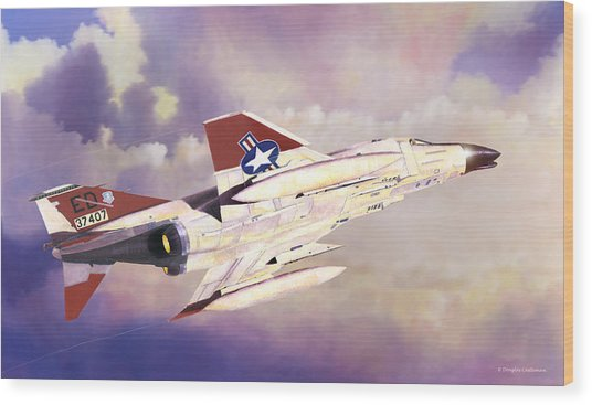 Edwards Air Force Base Phantom Wood Print