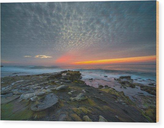 Eerie Sunset La Jolla Cove San Diego Wood Print