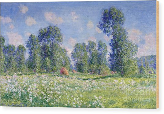 Effect Of Spring At Giverny Wood Print