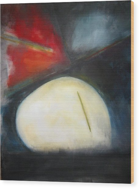 Egg Wood Print by Halle Treanor