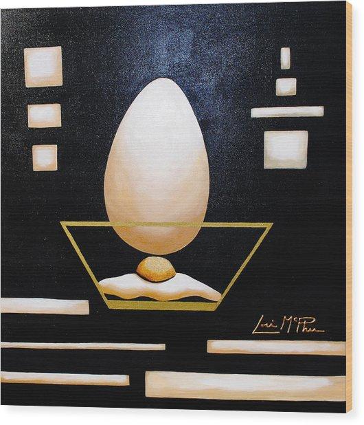 Egg In A Bowl Wood Print by Lori McPhee