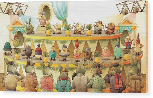 Eggs Fashion Wood Print by Kestutis Kasparavicius