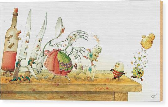 Eggs Liberty Wood Print by Kestutis Kasparavicius