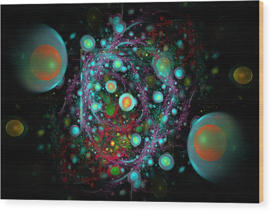 Eggs Nebula Wood Print