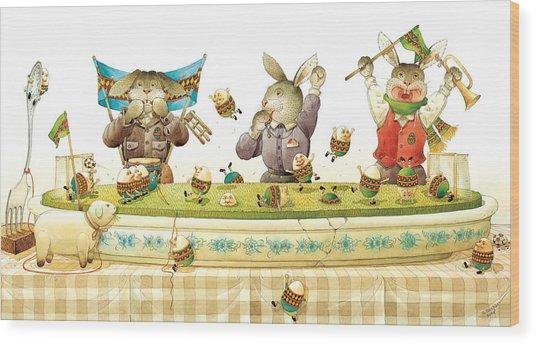 Eggs Soccer Wood Print by Kestutis Kasparavicius