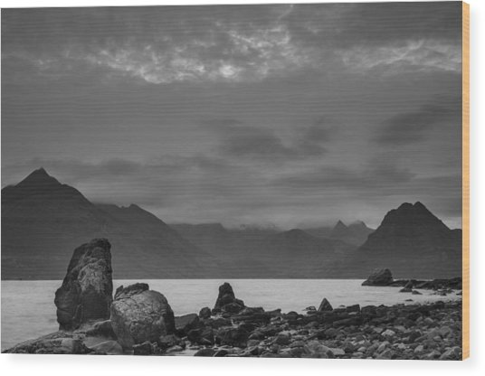 Egol Beach On The Isle Of Skye In Scotland Wood Print